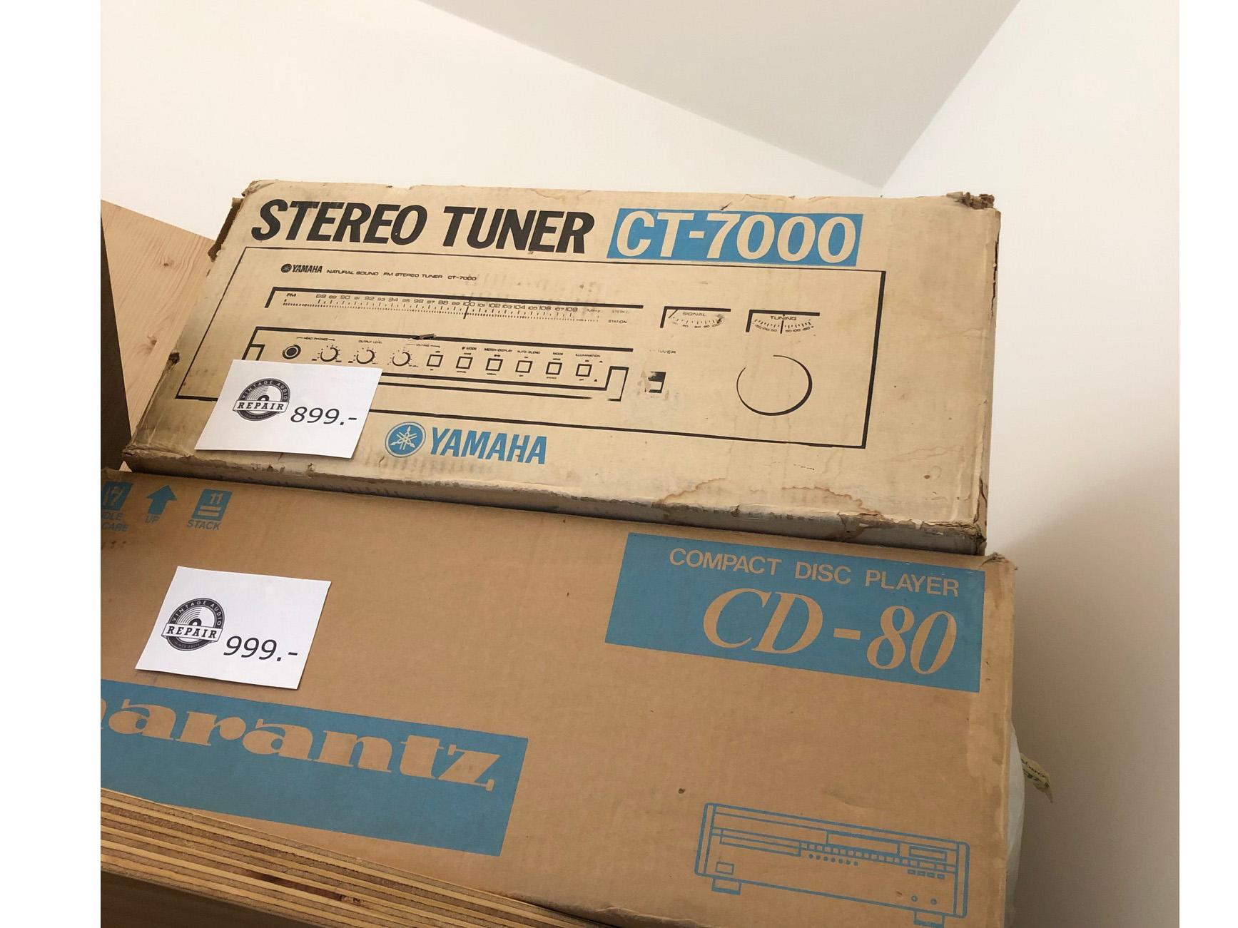 Yamaha CT 7000 en Marantz CD 80 1