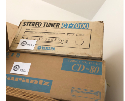Yamaha CT 7000 en Marantz CD 80