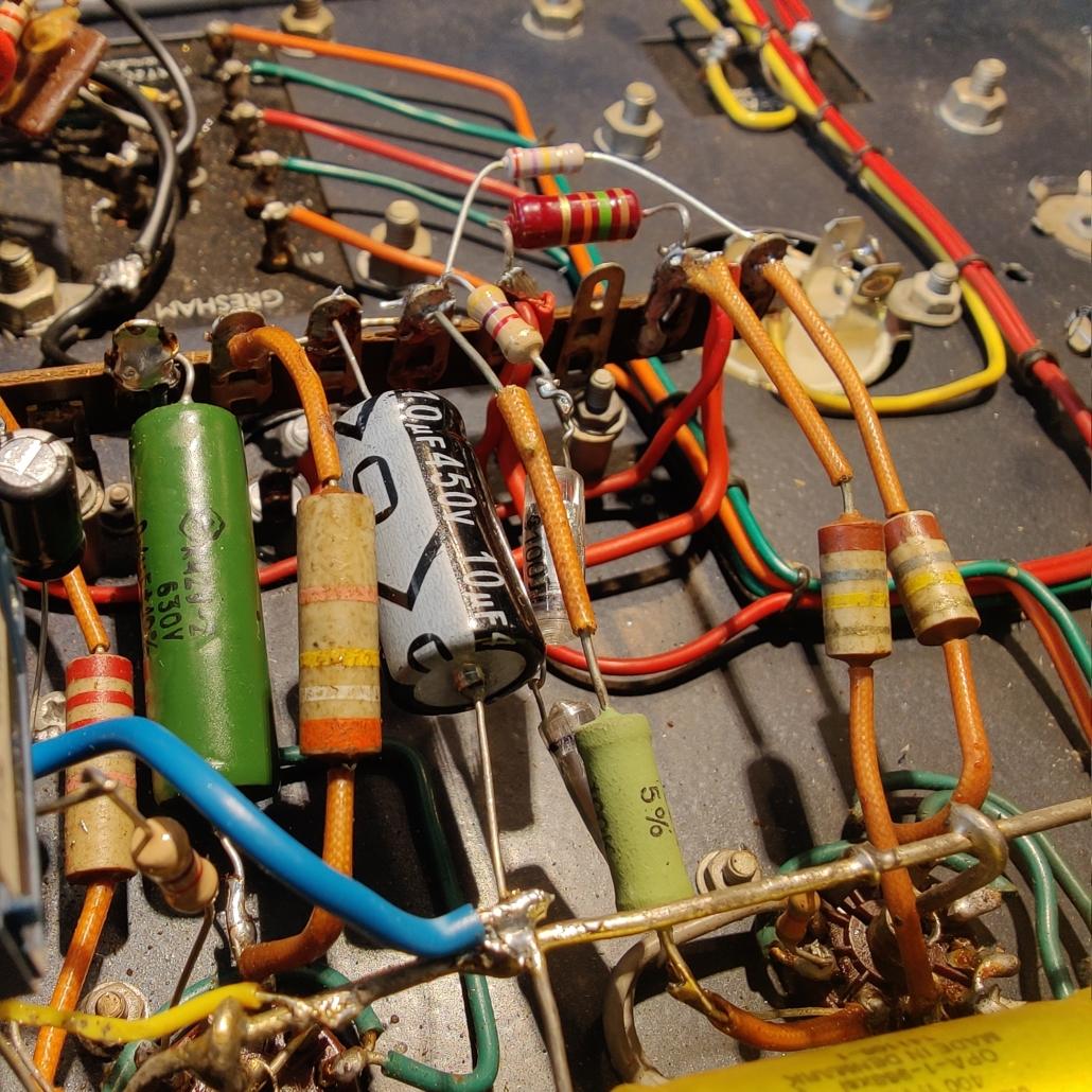 Beam Echo Avantic DL7 35 inside Vintage Audio Repair2