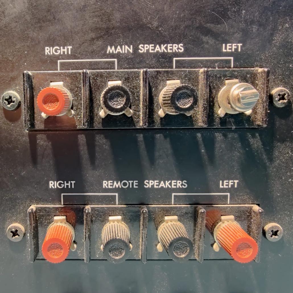 Luxman L30 L31 speakerterminals Vintage Audio Repair 2