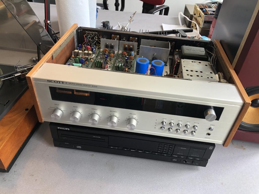 H.H. Scott R75S Vintage Audio Repair 11 1