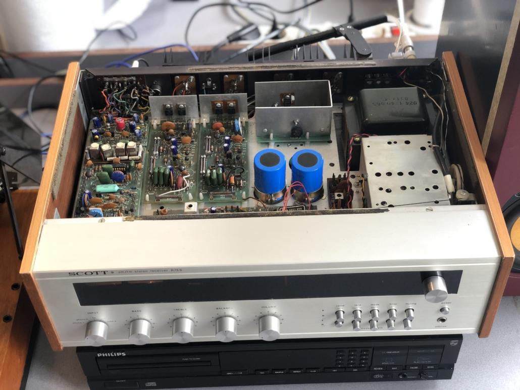 H.H. Scott R75S Vintage Audio Repair 13 1
