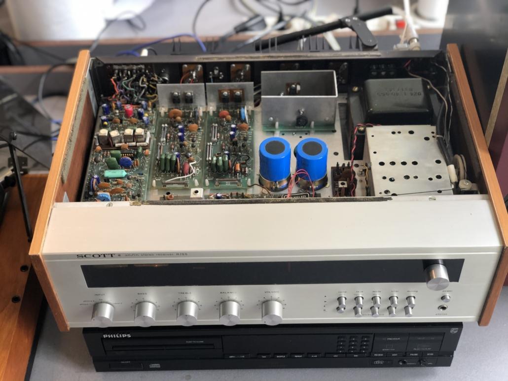 H.H. Scott R75S Vintage Audio Repair 14 1