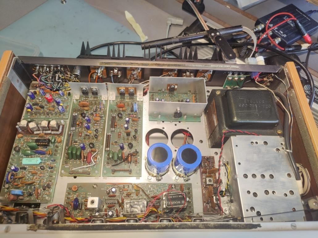 H.H. Scott R75S Vintage Audio Repair 4