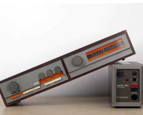 Quad 33 303 FM3 houten kastje vintage audio repair 1